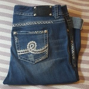 Seven7 Luxe Cropped Jeans Sz 16